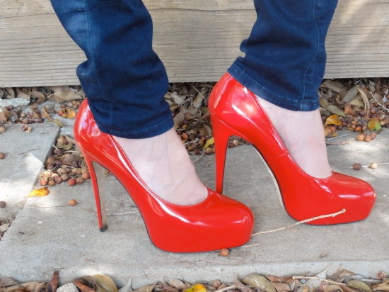 Brian Atwood Patent Leather Red Heels