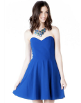 Francesca's Marinette Strapless Dress - $48