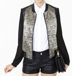 Nasty Gal Dusted Bomber Jacket - $88