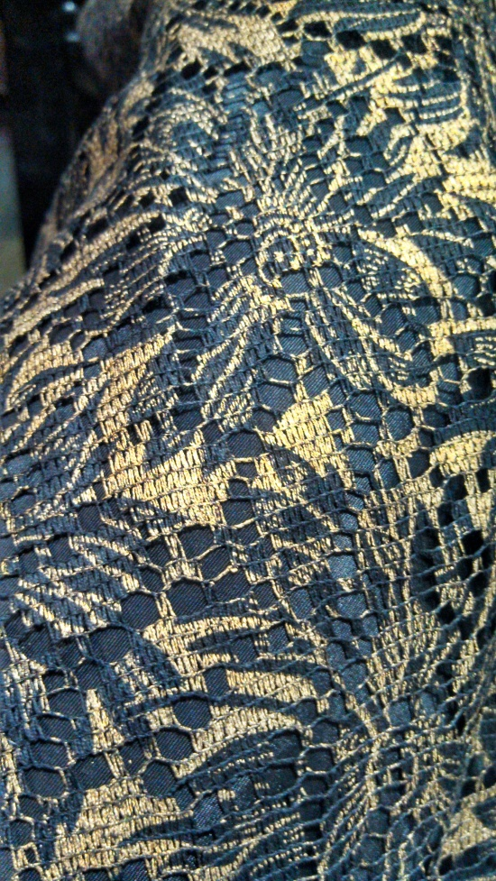 Here's a shot of the detail on the vintage skirt I wore tonight.