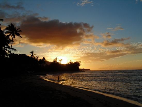 Sunset at the north shore