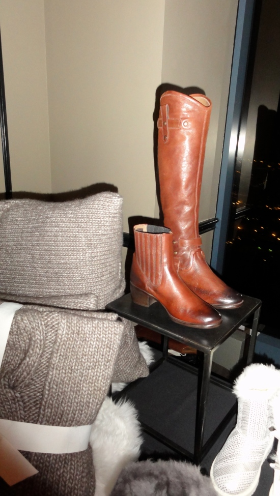 These boots can be worn as booties or just trap on a top piece to wear them as knee high boots!  Genius!