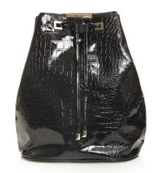 Topshop Patent Croc Backpack